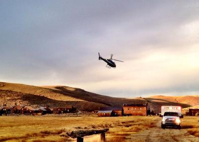 Medic 1 & Careflight helicopter